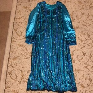Shimmery Sequined Blue Indian Suit